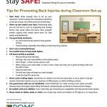 Classroom Setup Safety