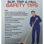 Slip, Trip & Fall Safety Tips
